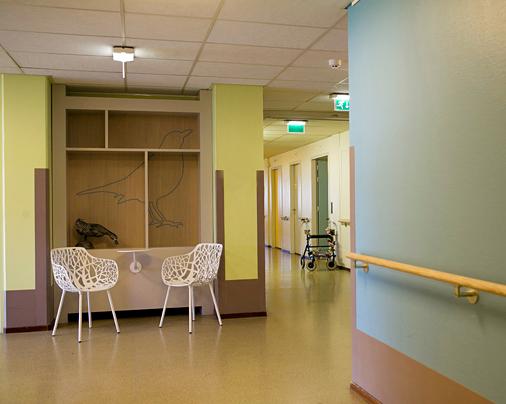Nieuw en fris interieur – Verpleeghuis De Die, Amsterdam