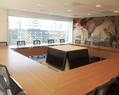 Inrichting videoconference ruimte – Paleis van Justitie, Amsterdam